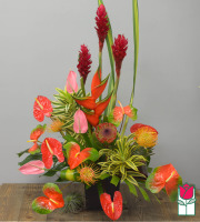 beretania florist exotic wonders tropical bouquet honolulu hawaii tropical flower delivery mothers day gift ideas watanabe floral