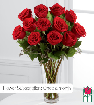 Monthly Subscription: Beretania\'s Premium Red Rose Masterpiece (30% Larger flower)