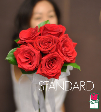 Hand Tie Rose Bouquet - Standard