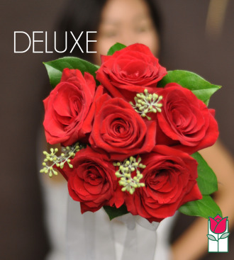 Hand Tie Rose Bouquet - Deluxe
