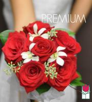Hand Tie Rose Bouquet - Premium