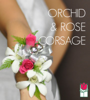 Wrist Corsage - Roses with Orchids