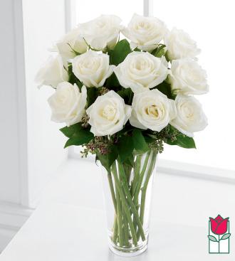 The Beretania Florist Premium White Rose Masterpiece (30% Larger flower)