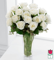 Beretania's 1.5 Dozen White Rose Bouquet