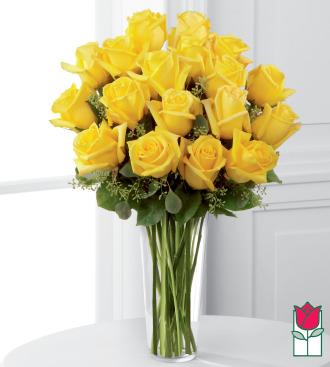 Beretania\'s 1.5 Dozen Yellow Rose Bouquet