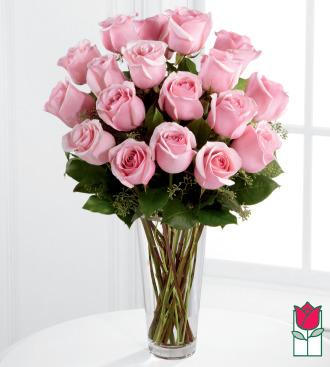 Beretania\'s 1.5 Dozen Pink Rose Bouquet