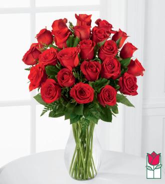 Beretania\'s 2 Dozen Medium Stem Rose Arrangement