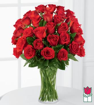 Beretania\'s 3 Dozen Medium Stem Rose Arrangement