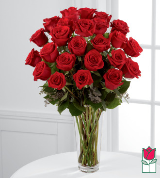 Beretania\'s 2 Dozen Long Stem Rose Bouquet