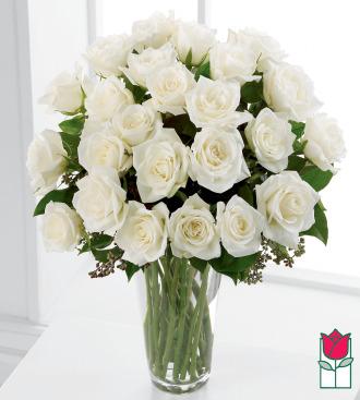 Beretania\'s 2 Dozen White Rose Bouquet