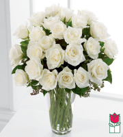 Beretania's 2 Dozen White Rose Bouquet