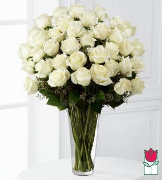 beretania florist 3 dozen long stem white rose bouquet honolulu rose delivery honolulu florist hawaii flower shop