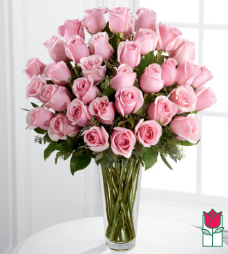 beretania florist 3 dozen long stem pink rose bouquet honolulu rose delivery honolulu florist hawaii flower shop