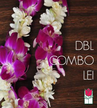 Double Tuberose w/ Purple Orchid Lei