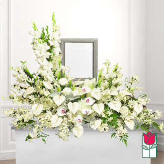 Honolulu Funeral Florist - Sympathy Funeral Flowers Honolulu Hawaii Delivery - Baldwin urn spray
