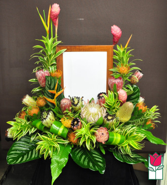 beretania florist matsonia picture urn spray honolulu hawaii funeral flower delivery