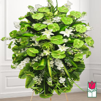 beretania florist lanikai wreath honolulu hawaii sympathy wreath delivery