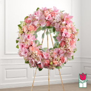 Loving funeral wreath delivery in honolulu hawaii funeral florist flowers