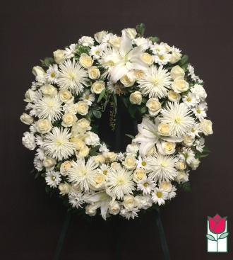 beretania florist kawela wreath honolulu hawaii sympathy wreath delivery