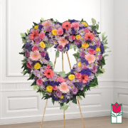 Aikahi funeral heart wreath delivery in honolulu hawaii funeral florist flowers