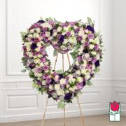 Coco funeral heart wreath delivery in honolulu hawaii funeral florist flowers