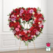 Lahaina funeral heart wreath delivery in honolulu hawaii funeral florist flowers
