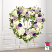 Hapuna funeral heart wreath delivery in honolulu hawaii funeral florist flowers