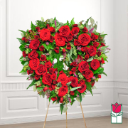 Kamuela funeral heart wreath delivery in honolulu hawaii funeral florist flowers