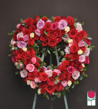 beretania florist lahaina heart wreath honolulu funeral flower delivery hawaii