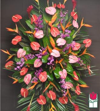 The BF Moanalua Tropical Wreath
