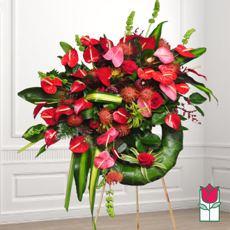 The BF Lava Tree Tropical Wreath