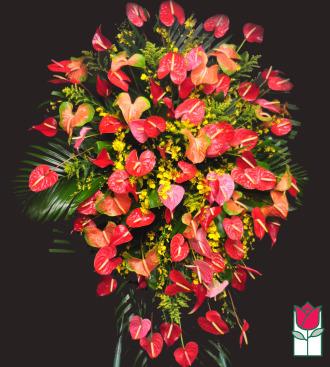beretania florist waialae iki tropical wreath honolulu hawaii funeral flower delivery