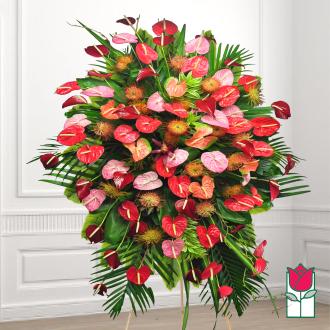 beretania florist aina haina tropical wreath honolulu wreath delivery
