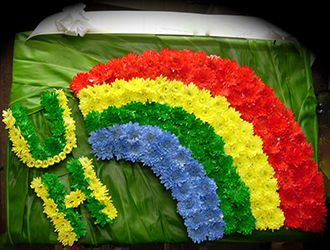 UH Rainbow Logo Wreath