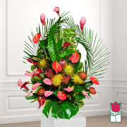 beretania florist isenburg tropical arrangement