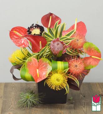 Beretania\'s Tropical Splendor Valentine\'s Bouquet