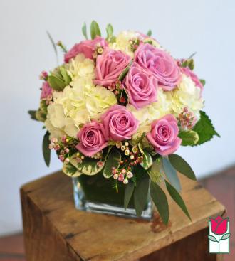 Beretania\'s Lavender Rose & Hydrangea Bouquet