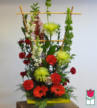 Beretania\'s Good Tidings Contemporary Christmas Bouquet