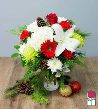 beretania florist holiday enchantment bouquet honolulu hawaii flower delivery