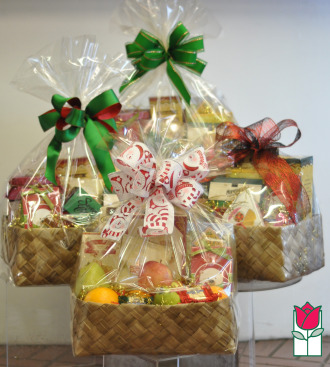 Gift Basket - Gourmet Snacks Set of 4 Small