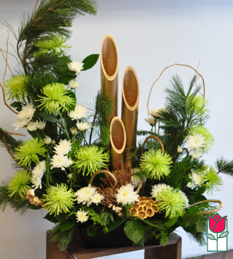 Exquisite New Year\'s Kadomatsu Arrangement