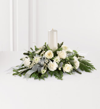 The FTD® Wintergarden Candle™ Centerpiece