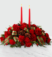 The FTD® Holiday Classics™ Centerpiece by BHG® by Lisa Dees florists in raleigh nc