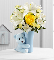 Send fresh flowers & plush animals for the birth of a baby boy in Grand Rapids, Jenison, Zeeland, Byron Center, Walker & Holland with Sunnyslope Floral
