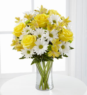 The FTD® Sunny Sentiments™ Bouquet by Lisa Dees flower delivery raleigh nc