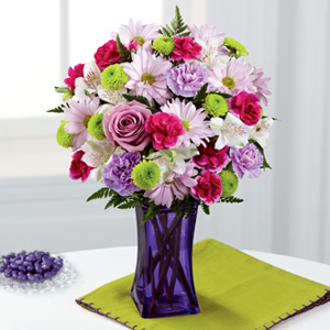 The FTD® Purple Pop™ Bouquet
