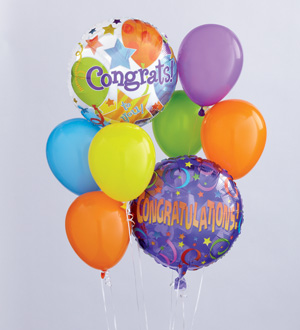 Find and Send HELIUM MYLAR AND LATEX BALLOON CONGRATULATIONS Bouquets TODAY in Greater Grand Rapids with Sunnyslope Floral