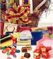 FTD Florist Designed Chocolate & Candy Gift Basket Deluxe by Lisa Dees flower shops in raleigh nc