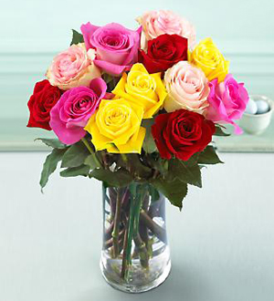 The FTD® Mixed Rose Bouquet with Vase