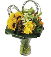 Bouquet in Glass Vase